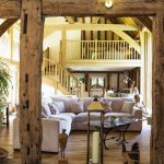 Cowshot Manor barn-living room view