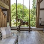 Cowshot Manor barn-rocking horse window view