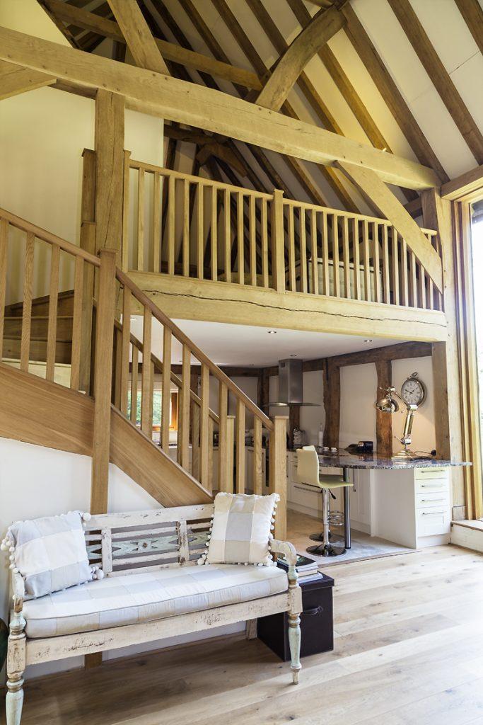 Cowshot Manor barn - stairs